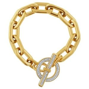 Authentic Michael Kors Gold Toggle Bracelet